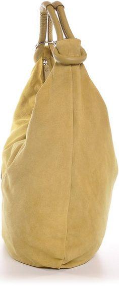 CNTMP, Damen Handtaschen, Hobo-Bags, Schultertaschen, Beutel, Beuteltaschen, Trend-Bags, Velours, Veloursleder, Wildleder, Leder Tasche, DIN-A4, 44x36x4cm (B x H x T) (Braun (Dunkelbraun)): Amazon.de: Bekleidung