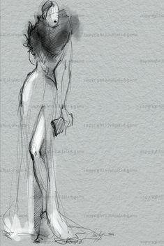 Quick Fashion Sketches by Julija Lubgane at Coroflot.com