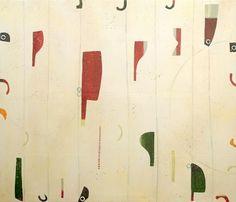 Large Abstract, acrylics & wax on canvas 2 x 170m by Timna Woollard
