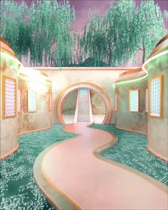 H+ Creative is a graphic services agency, centered on the future of visual media, representing artists worldwide. Pompe A Essence, Fantasy House, Fantasy Places, Aesthetic Rooms, Fantasy Landscape, Retro Futurism, Dream Rooms, Aesthetic Wallpapers, Futuristic