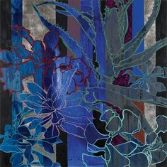 Blue Succulents, 2014 by Robert Kushner