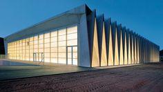 Mülimatt Sports Education and Training Centre in Windisch, Brugg by Studio Vacchini Architetti