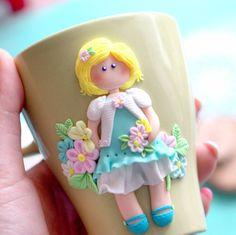 «Доброе утро! Новая девочка для @budnik_yuliya в стиле куколок Сюзанны Вулкотт  Стоимость кружечки 250 тыс.бел.руб или 900 рос.руб. Для заказа пишем в…»