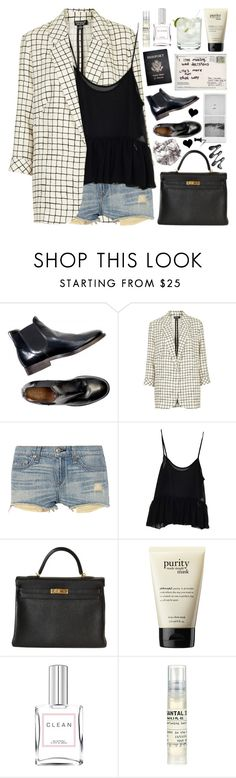 """2089. My Kingdom"" by chocolatepumma ❤ liked on Polyvore featuring Topshop, rag & bone, Hermès, Passport, ZIG-ZAG, philosophy, Guide London, CLEAN and Le Labo"
