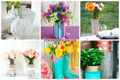ideas de manualidades para hacer floreros y jarrones