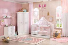 Gordijnen Babykamer Roze : Babykamer roze compleet babybed klamboe tapijt kast gordijn en