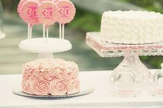 Shabby + Romantic Pink 30th Birthday Party