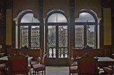 Diciembre  Plaza del Castillo desde el Casino  Autor:Manuel Matute Royo Pamplona, Plaza, Gazebo, Outdoor Structures, Windows, December, Calendar, Castles, Author