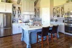 Cook in this beautiful kitchen by Shaddock Homes at Phillips Creek Ranch #Kitchen #KitchenDesign #ShaddockHomesTX