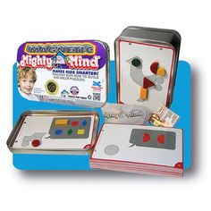 Magnetic MightyMind and thousands more of the very best toys at Fat Brain Toys. Children learn how to manipulate 32 geometric shapes to build pictures of increasing complexity, all with brilliantly colorful magnetic shapes. Teaching Kids, Kids Learning, Activity Toys, Activities, 1970s Toys, Math Manipulatives, Puzzles For Kids, Card Patterns, Thinking Skills
