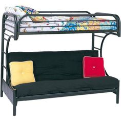 Free Shipping. Buy Eclipse Twin Over Futon Metal Bunk Bed, Multiple Colors at Walmart.com
