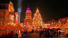 Christmas Market Gendarmenmarkt, Berlin, Germany. Berlin has several christmas markets throughout the whole city.