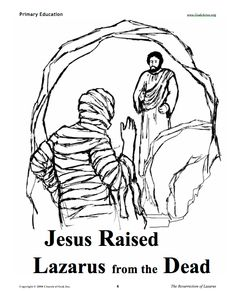 jesus raises lazarus from the dead coloring page - 1000 images about lazarus raised on pinterest sunday