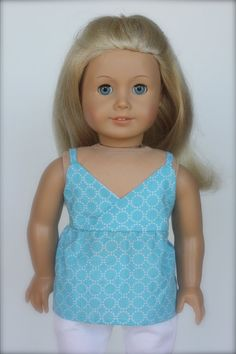 Light Blue Crossover Cami for American Girl Doll by Closet4Chloe
