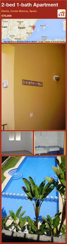2-bed 1-bath Apartment in Denia, Costa Blanca, Spain ►€76,000 #PropertyForSaleInSpain