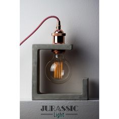 Discover thousands of images about Handmade Home Decor Light Bulb Oil Lamp on Pyramid natural concrete and Black Rock Base, Aluminum top bulb Beton Design, Concrete Design, Diy Luminaire, Luminaire Vintage, Concrete Light, Concrete Lamp, Concrete Crafts, Concrete Projects, Luminaria Diy