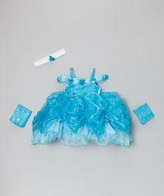 Look at this #zulilyfind! Cinderella Couture Turquoise Star Princess Dress Set - Infant by Cinderella Couture #zulilyfinds