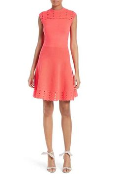 Ted Baker London Zaralie Jacquard Panel Skater Dress