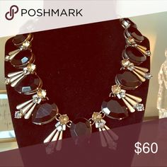 Black and gold statement necklace Black and gold statement collar necklace. Nickel free Jewelry Necklaces
