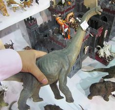 The Papo Brachiosaurus dinosaur model spotted at a trade show.