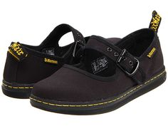 Dr. Martens Carnaby Mary Jane Black Canvas - Zappos.com Free Shipping BOTH Ways
