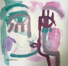 12x12 Acrylic on paper, Craig Greene