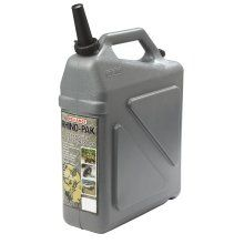 "Tough like its namesake, this heavy-duty water container boasts 50% greater drop strength and 33% thicker walls compared to standard containers for increased durability and puncture resistance. Stores on end or on its side and it can be stacked up to four high. Seven gallon capacity. 12 1/8""L x 9 3/8""W x 15""H."