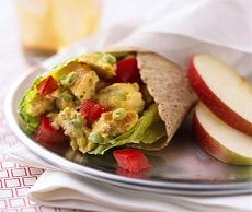 Diabetic Recipes - Curried Chicken Salad Wraps