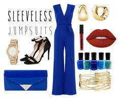 """Sleeveless Jumpsuit"" by soph13-13 ❤ liked on Polyvore featuring YOANA BARASCHI, STELLA McCARTNEY, JNB, DKNY, BERRICLE, Zoya, Smashbox and Lime Crime"
