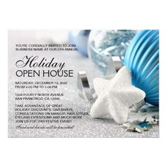 Business Or Store Holiday Open House Invitations