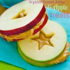 Peanut butter and apple treats :). Could also drizzle with chocolate.