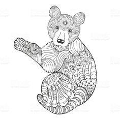 Cute bear royalty-free stock vector art
