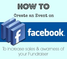 Facebook #Fundraising Tip! A step by step process on how to create an event with Facebook to create more awareness and more profit for your cause! #ThatsMyBrick