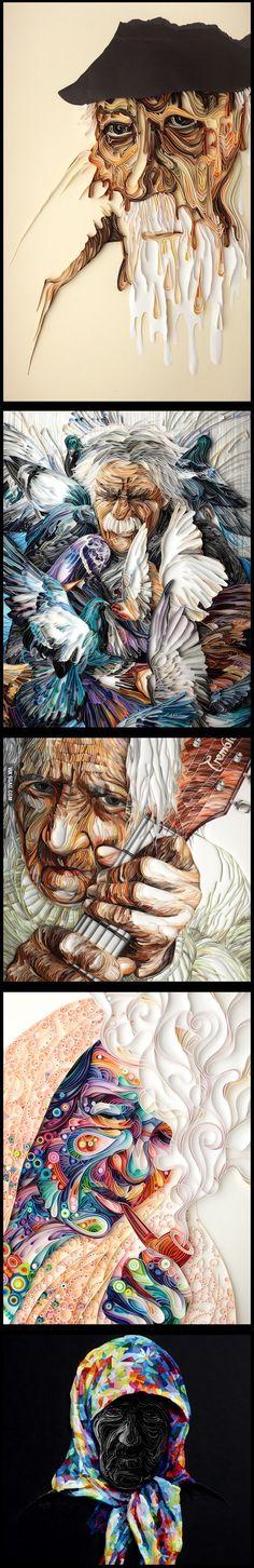 Awesome paper art by Yulia Brodskaya