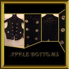 Apple Bottoms Double Breasted Vest New with tag. Gold hardware, studs and stitching. Apple Bottom Jeans, Double Breasted Vest, Price Drop, Gold Hardware, Fashion Tips, Fashion Design, Fashion Trends, Denim, Best Deals
