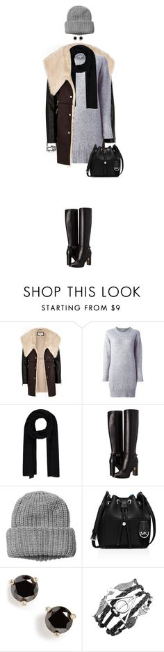 """""""Cozy Coat"""" by ittie-kittie on Polyvore featuring River Island, Kenzo, Forever 21, Burberry, Monki, MICHAEL Michael Kors, Kate Spade, women's clothing, women and female"""