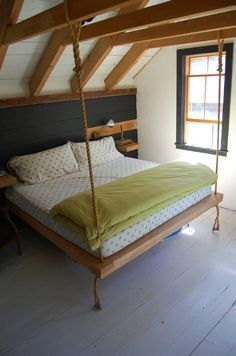 Handmade Hemlock  Nautical Hanging Bed by FULLYFOUND on Etsy, $750.00