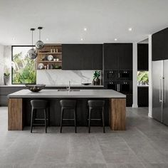 What the Experts Are Saying About Kitchen Island Ideas with Seating, Lightin… - Kitchen - Best Kitchen Decor! Luxury Kitchen Design, Kitchen Room Design, Contemporary Kitchen Design, Kitchen Cabinet Design, Kitchen Sets, Kitchen Layout, Home Decor Kitchen, Interior Design Kitchen, Home Kitchens