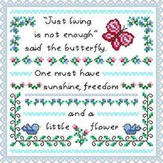 Little Flower cross stitch pattern.