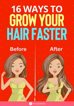 16 Ways To Grow Your Hair Faster: Hair is often associated with beauty and attractiveness, which is why most women always want that little extra that will help transform their hair from good to great. In this article, we will look at 14 simple tricks that Growing Long Hair Faster, Make Hair Thicker, Longer Hair Faster, How To Grow Your Hair Faster, Grow Long Hair, How To Make Hair, Hair Growing, Ways To Grow Hair, Help Hair Grow
