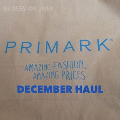 Primark December Haul – As seen on Jean