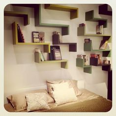 I want to do this and display all my favorite shoes. No more rummaging through my closet or feeling guilty for the price I paid for them. Double duty, Convenience and wall art.