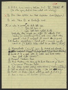 John Lennon's Handwritten To-Do List