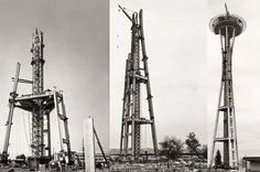 Cool collection of images taken as the Space Needle was being built in 1961. Photo credit: MOHAI