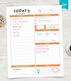 Printable Planners Pages and Inserts to organize your life, home and business