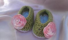 Baby Shoes Fun and Trendy Booties with Matching Hair by ThisChild, $12.99