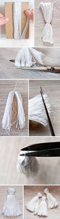 Oh the lovely things: DIY Ombre Tassel Necklace Diy Necklace, Tassel Necklace, Tassel Jewelry, Jewelery, Do It Yourself Schmuck, Fitness And Beauty Tips, How To Make Tassels, Diy Ombre, Diy Tassel