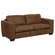 Buy John Lewis Felix Large Leather Sofa with Dark Legs | John Lewis