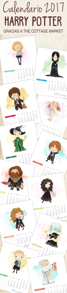 Free Printable 2017 Calendar - Harry Potter