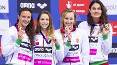 It was also a historic night for Hungary as Katinka Hosszu won 200m Individual Medley gold, then returned for 100m Backstroke silver, while Boglárka Kapás, Laszlo Cseh, Tamás Kenderesi and Richárd Bohus all landed individual medals.  The Hungarians then closed the night in style, capturing gold in the women's 4x200m Freestyle Relay for their seventh medal of the night with Hosszu swimming the anchor leg for her fourth title of London 2016. London 2016, 200m, Swimmers, Hungary, Anchor, Inspirational, Retro, Night, Sports